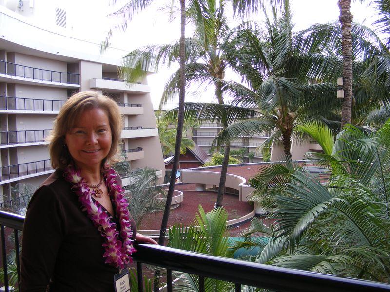 Ruth - arriving at resort