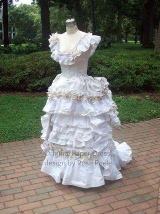 Rose's paper dress 1