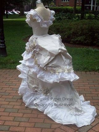 Rose's paper dress 2