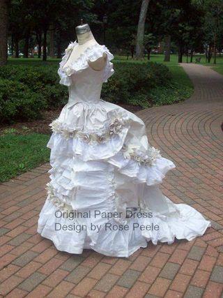 Rose's paper dress 3