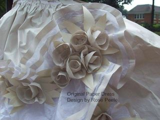 Rose's paper dress close-up