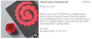 Spiral Flower Originals Die