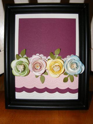 Spiral Flower - Rosettes Frame