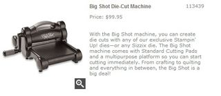 Big Shot Die Cut Machine   Stampin  Up