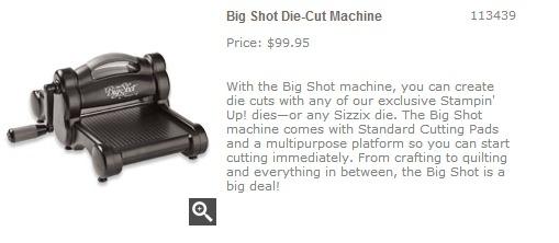 Big Shot Die Cut Machine   Stampin  Up