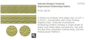 Delicate Designs Textured Impressions Embossing Folders   Stampin  Up