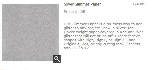Silver Glimmer Paper   Stampin  Up