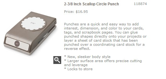 2 3 8 Inch Scallop Circle Punch   Stampin  Up