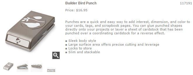 Bird builder punch