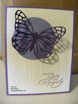 Sympathy card butterfly
