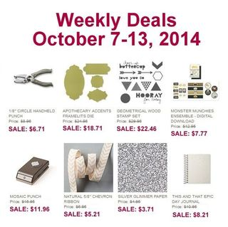 Weekly deals Oct 7 - Oct 13